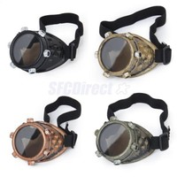 Lot 4 Vintage Victorian Steampunk Goggles Cyclops Glasses Gothic Cosplay Costume