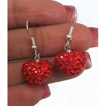 Valentine Crystal Heart Earrings