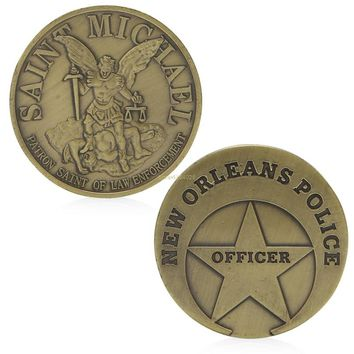 Saint Michael New Orleans Police Commemorative Coin Zinc Alloy Commemorative Coin Collection No-currency Coins W-store Sep11_A