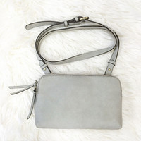 Coveted Crossbody- Grey
