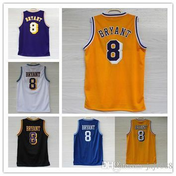top quality los angeles 24 kobe bryant jersey cheap men s 100 stitched throwback 8 kobe basketball jersey embroidery logo free shipping  number 1