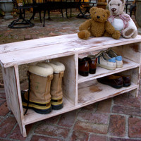 Shoe Storage Bench Entryway Shelf Hallway by honeystreasures