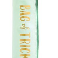 Bag of Tricks Round Pouch / Vibrator Cozy with Tassel in Mint Green