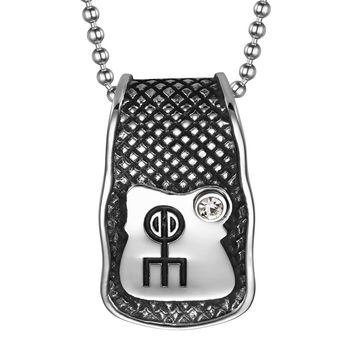 Unique Rune Norse Love Powers Ancient Amulet Snow White Crystal Magic Runic Tag Pendant 22 inch Necklace