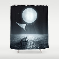 Set Adrift II Shower Curtain by Soaring Anchor Designs | Society6