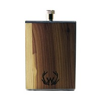Stainless Steel & Wood Flask