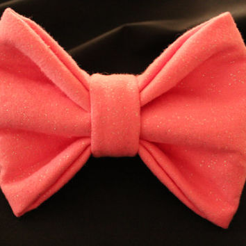 Large Light Pink Sparkly Hair Bow by AlexisCrafts95 on Etsy