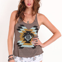 Insightful Tribal Tank - $28.00 : ThreadSence.com, Your Spot For Indie Clothing & Indie Urban Culture