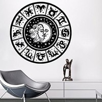 Wall Decals Sun And Moon Zodiac Signs Crescent Dual Stars Night Symbol Sunshine Decal Vinyl Sticker Home Decor Bedroom Interior Design Art Mural MS611