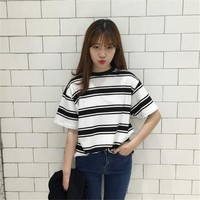 Harajuku BF Striped T-shirt