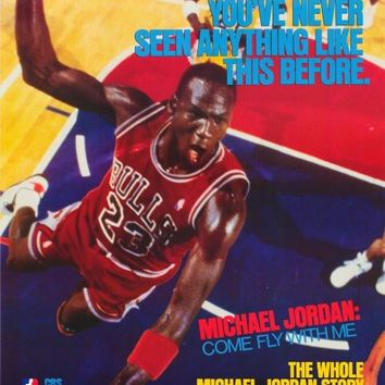Michael Jordan: Come Fly with Me 27x40 Movie Poster (1989)