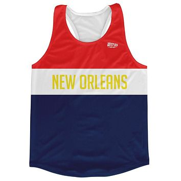 New Orleans City Finish Line Running Tank Top Racerback Track and Cross Country Singlet Jersey