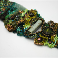 GREEN with ENVY by BeadazzledofOregon on Etsy