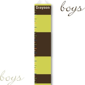 Kids Growth Charts - Personalized Rugby Growth Chart