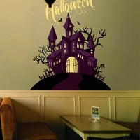 cik1643 Full Color Wall decal greeting halloween coffee shop showcase