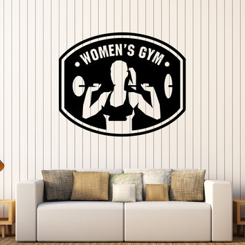 Vinyl Wall Decal Woman Gym Fitness Club Girl Sports Stickers Unique Gift (334ig)