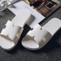 Hermes Women Casual Fashion Sandal Slipper Shoes