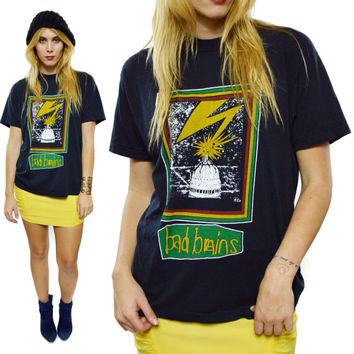 Vintage 80s Bad Brains Quickness 50/50 T Shirt Sz L