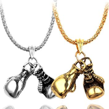 Cool Lovely Mini Boxing Glove Necklace Boxing match Jewelry Cool Pendant for Men Boys