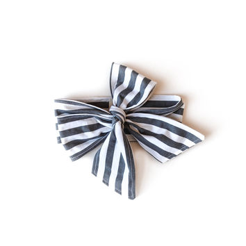 Baby Headwrap Black Stripes