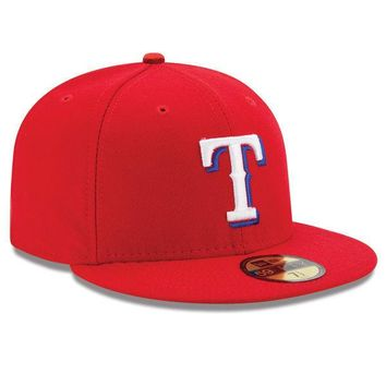 New Era TEXAS RANGERS 5950 Alternate Red Cap MLB Baseball 59Fifty Fitted Hat