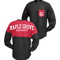 Custom Blackboard Spirit Jersey - ATHLETIC  LETTERING