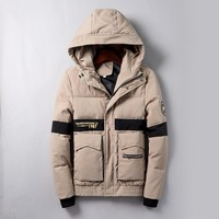 Supreme Fashion Casual Quilted Cardigan Jacket Coat Hoodie