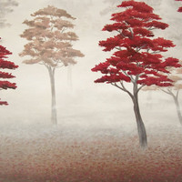 Autumn Forest Painting Original Landscape by ABFoleyArtworks