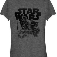 STAR WARS TFA INKED GROUP JUNIORS T-SHIRT