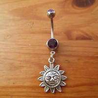 Belly button ring - Sun belly ring