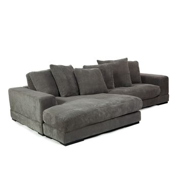 Plunge Sectional Sofa Charcoal