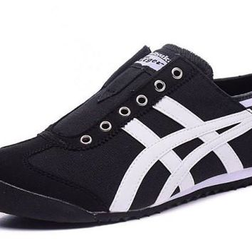 asics japan onitsuka tiger black white unisex running shoes sneakers trainers  number 1