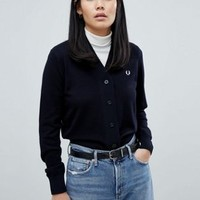 Fred Perry Crop Knit Cardigan at asos.com