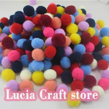 14mm Multi Colors Options Pompom Fur Craft Diy Soft Pom Poms Wedding Decoration Doll Accessories 22010014