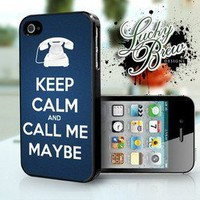 Keep Calm Call Me Maybe Funny Phone Case - Apple iPhone 4 4s Hard Case Cover