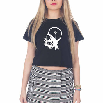 BART SIMPSON For Womens Crop Shirt ***
