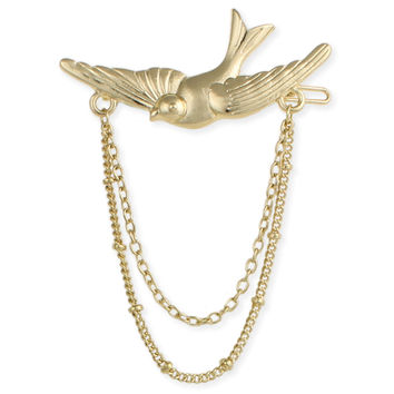 Gold Chain Bird Barrette