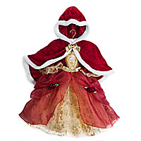 Belle Deluxe Holiday Costume with Cape for Kids