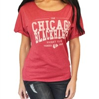 Chicago Blackhawks Women's Wide neck Tee | SportyThreads.com