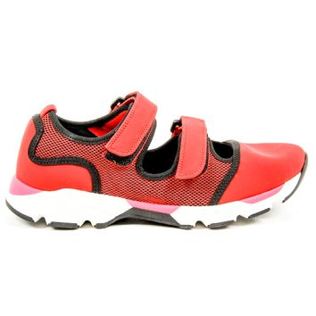 Marni Womens Double Strap Sneaker SNZWS01G02 TCR86 00R66 RED