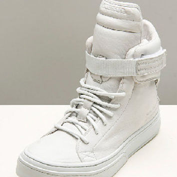 Diesel Glamrock Mystic White Shoes for men | SSENSE