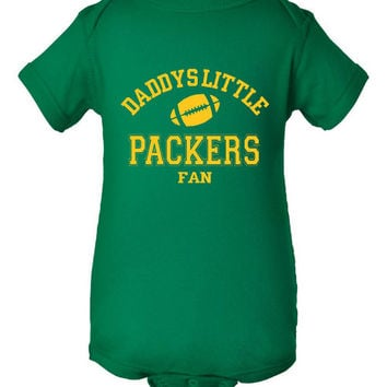 DADDYS LITTLE PACKERS Fan Adorable Toddler Tshirt Or Creeper Great Green Bay Packers Tshirt Football Printed Tee