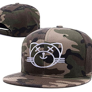 BIYJ Kiss Land Cat XO The Weeknd Embroidery Camouflage Cap Camo Snapback Hat