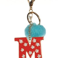 """M"" Intial Key Chain"