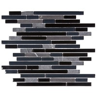 Merola Tile Tessera Piano Bizancio 11-3/4 in. x 11-7/8 in. x 8 mm Glass and Stone Mosaic Tile-GITTPNBZ - The Home Depot