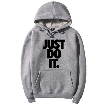 JUST Do IT Man Fashion Hooded Top Pullover Sweater Sweatshirt Hoodie