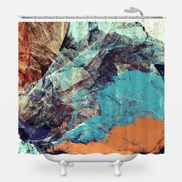 Fox and Bird Shower Curtain