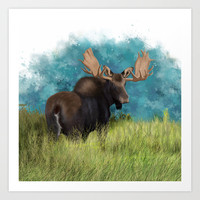 Moose  Art Print by North Star Artwork