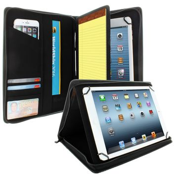 "Universal PadFolio Case Carbon Fiber Executive Notepad Holder 8.5"" To 11"" Inch"