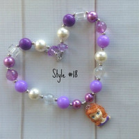 #18 Sofia the First Inspired Bubblegum Chunky Necklace